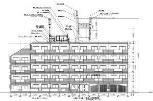 アンテナ設置の立面図です。合計5トンになるので構造上の計算も重要ですね。