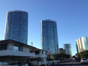 今朝のモアナパシフィック、ハワイキタワー、コオラニです。