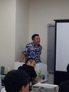天方エバンセミナー:福天方エバンセミナー:ハワイ移住までの僕流をお話させて頂きました。永さんとても良い方です。そしてでかい!!