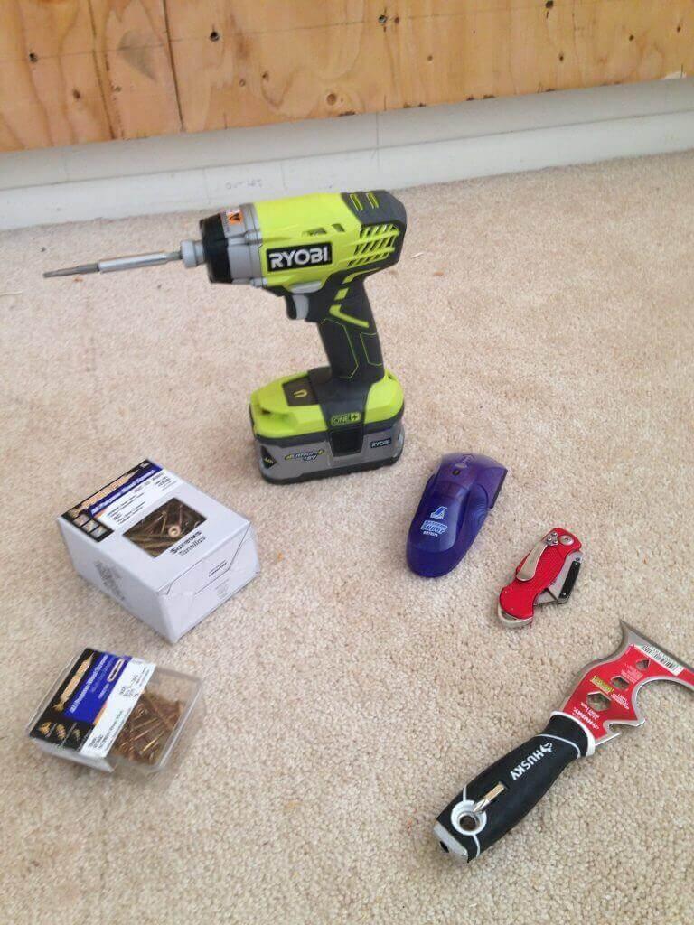 ハワイで大家:今回のプロジェクトで用意した道具。