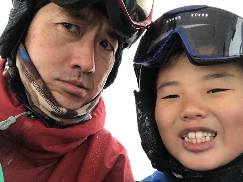 ハワイで大家:ニセコ・スキー2018 長男と