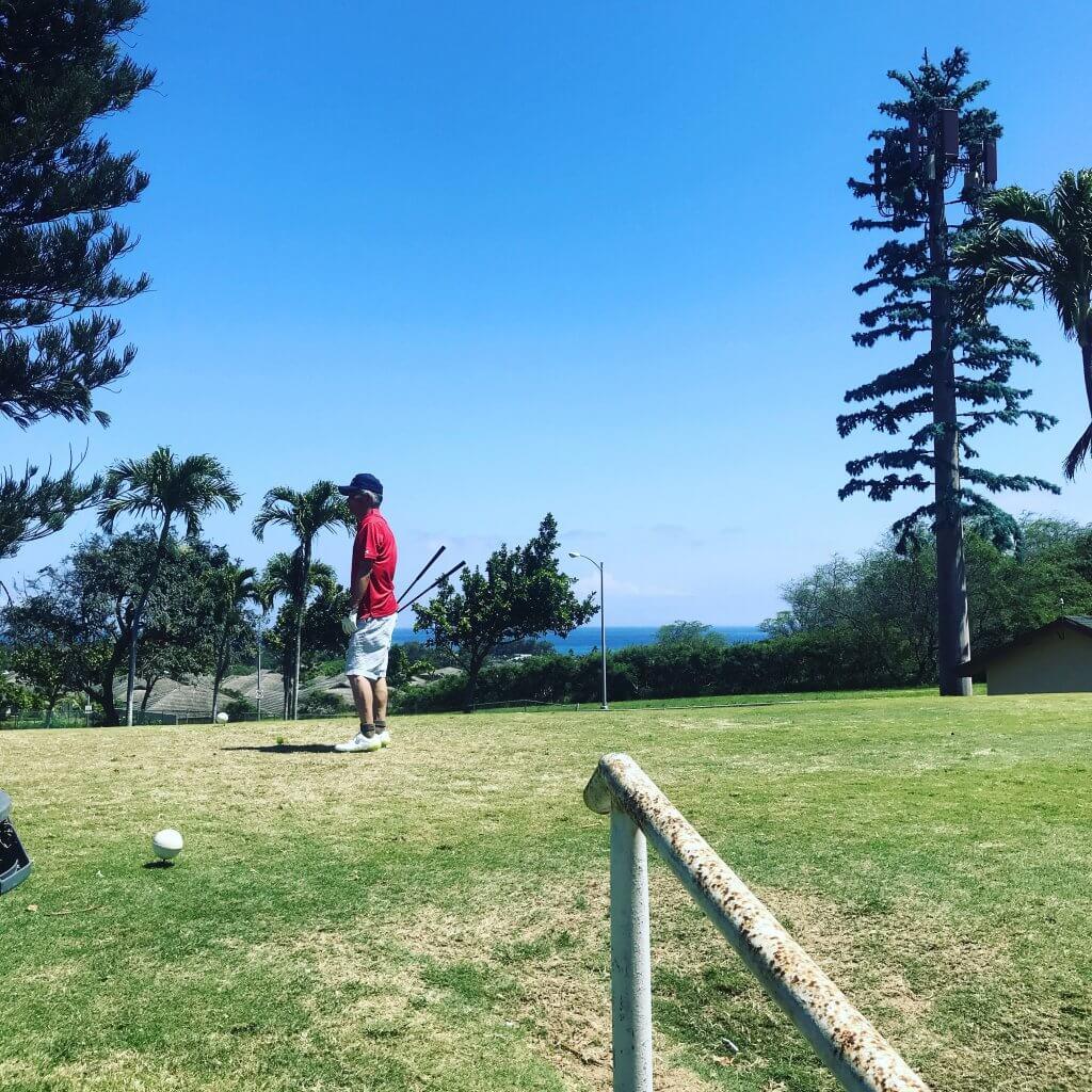 ハワイで大家:父とゴルフ2018