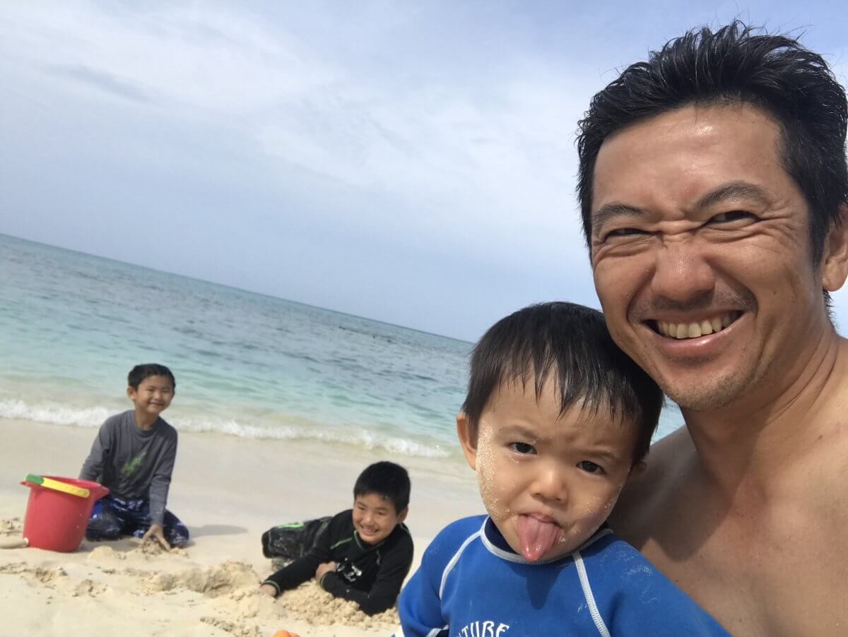 ハワイで大家:2018春休み 最終日はビーチ ホヌ鑑賞スキューバも
