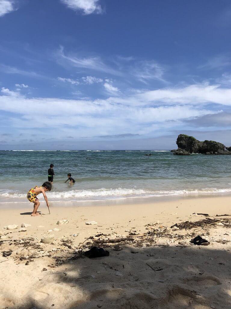 ハワイで大家:沖縄夏ステイ2018 ビーチでもう泳げます