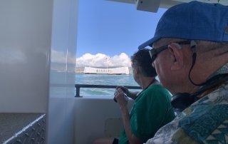 ハワイで大家:ホストファミリー来ハ 2019 パールハーバーにて