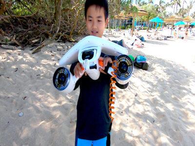 ハワイで大家:水中スクーター